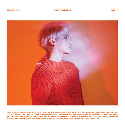 JONGHYUN POET ARIST Posthumous work Album CD+Poster+Booklet+Etc KPOP Sealed
