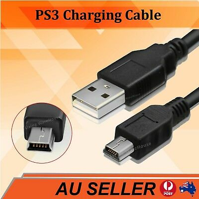 USB Power Charger Charging Cable for Sony PS3 Move Wireless Game Controller
