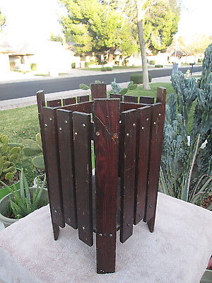 Antique Mission Arts Craft Waste Bin Plant Stand Catch All 4 Restoration Project
