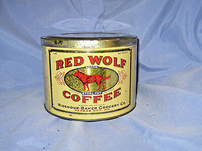 Red Wolf steel cut Coffee Tin Can