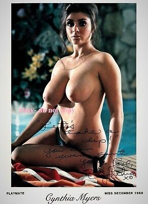 Cynthia Myers Signed Autographed Reprint Photo. Valley Of The Dolls. Playboy.