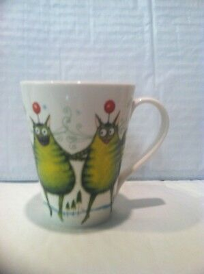 Clare Mackie Royal Worcester Cat Mug Cup Funny Cute Whimsical 2005 - Cat Lady