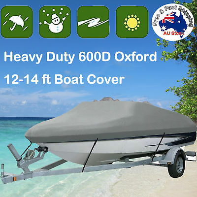 Premium Heavy Duty 600D 12-14ft 3.6-4.2m Marine Grade Trailerable Boat Cover I