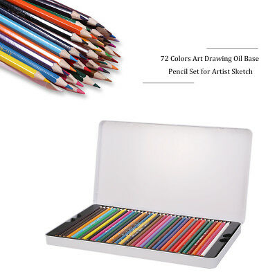 72-Color Pencils Premium Art Drawing Water Sketching Soft Core Lead Set & Case