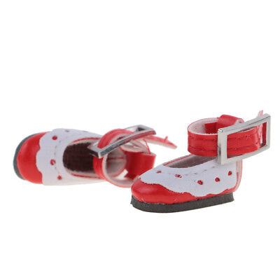"""28mm RED Scallop Trim Ankle Strap for 8/"""" Ginny Doll Shoes others"""
