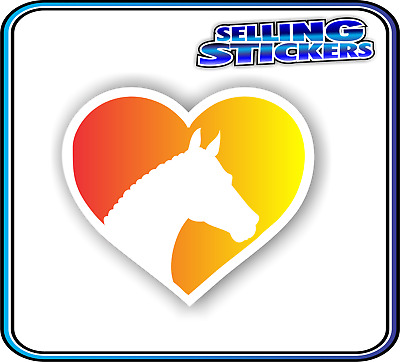 Horse Lovers Sticker Window Float Custom Decal Saddle Riding Equestrian Red Ylw
