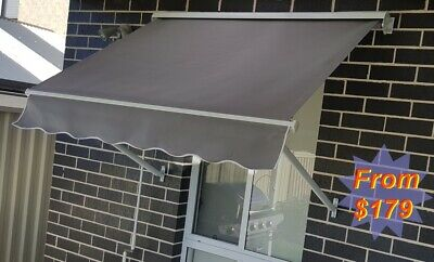 Roll Down Pivot Arm/Awning Beige or Grey with Aluminium HOOD  $179+