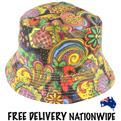 Bucket Hat - Psychedelic Canvas - Free Delivery Nationwide.