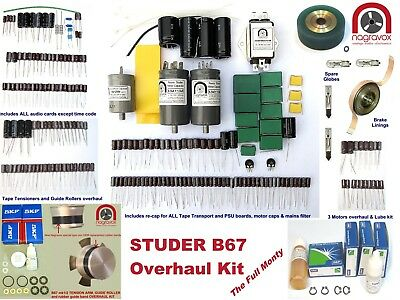 STUDER A/B67 COMPREHENSIVE electronic & mechanical 'FULL MONTY' overhaul kit