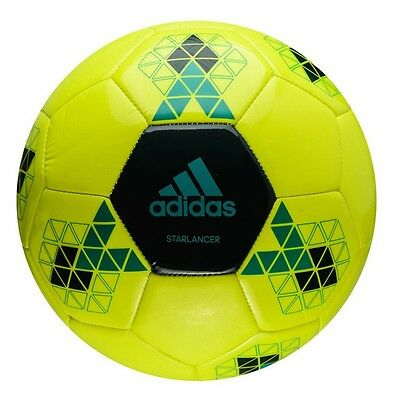 Football/ Soccer Ball Adidas Starlancer V Trainer Size 5 Yellow Genuine Adidas