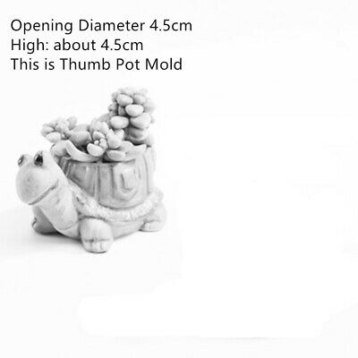 DIY cement pot Molds Hand made Clay Craft Making Concrete Resin Silicone Molds