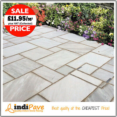 Silver Kandla Grey 18.55m2 Indian sandstone Natural paving patio slabs flags