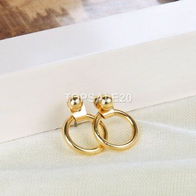 New Gold, Silver Metal Circle Round Stud Earrings