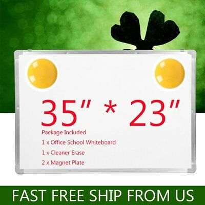 "Lot 35""x23"" 2 Side Magnetic Writing Whiteboard +Eraser Office Home School Large"