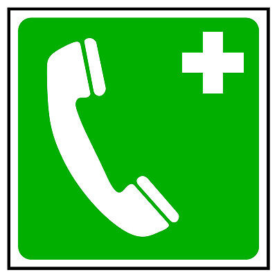 Emergency Telephone symbol – First Aid sticker/sign FAI19