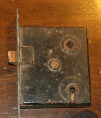 Old Vintage Antique Farm House Door Latch Lock Hardware Metal Cast Iron No Knob