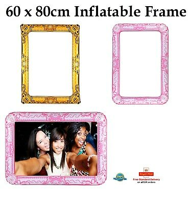 GIANT INFLATABLE PHOTO FRAME Selfie Frame Booth Party Hen Party Birthday 60x80cm