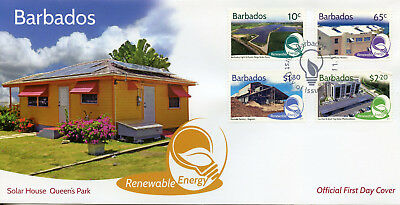 Barbados 2017 FDC Renewable Energy 4v Set Cover Science Environment Stamps