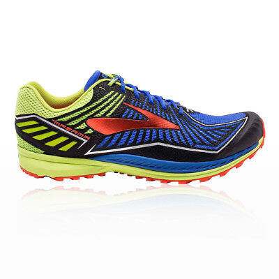 Brooks Mens Mazama Trail Running Shoes Trainers Sneakers Blue Yellow Sports