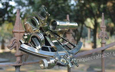Nautical Beautiful Sextant Marine Collectible Sextant Working Instrument 9""