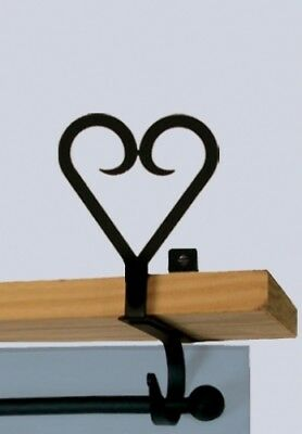 Wrought Iron Curtain Shelf Bracket Pair Of 2 Heart Home Decor Window Treatments