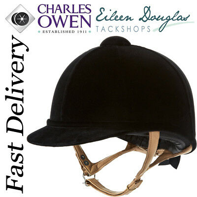 Charles Owen Fian Hat Riding Showing Dressage Hunting Helmet