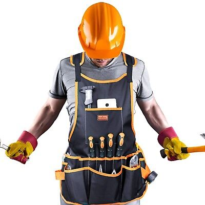 16 Pocket Electrician Tool Belt Bag Pouch Mechanic Vest Carpenter Apron Fits All