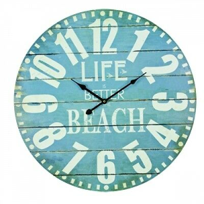Large Hanging Wall Clock Life Is Better At The Beach House Decor Home Decoration