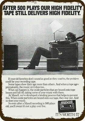"Maxell Blown Away Speaker Ad Poster 13/""x19/"" Mini Poster High Quality Print"
