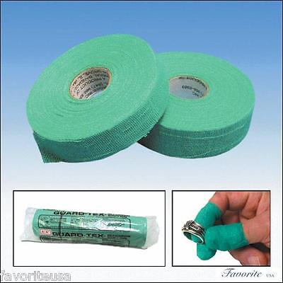 """FINGER PROTECTION SELF-ADHESIVE GREEN SAFETY TAPE  2 ROLLS 1"""" W x 30 YD LONG"""