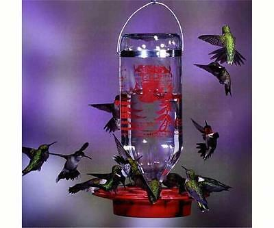BEST-1 HUMMINGBIRD FEEDER with 32 oz. GLASS BOTTLE, Made in the USA          #dm