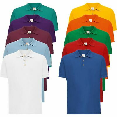 New Mens Short Sleeve Polo T-Shirt Top Tee PK Plain Sports Casual Golf Fashion