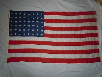 "WW2 Era US 48 Star Flag 3X5 Feet ""Stantest Bunting Flag"""