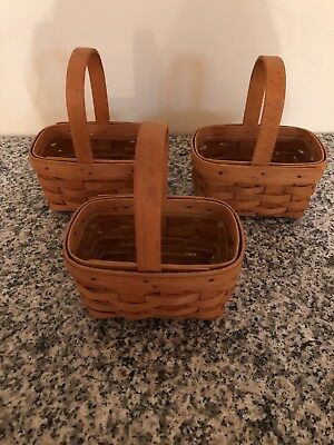 Lot of 3 Longaberger 1995 American Cancer Society Baskets w/ Liners