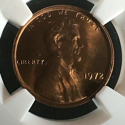 1972 1C RD Lincoln Memorial One Cent NGC MS67+RD      4230276-013c