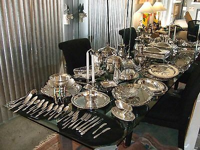 Vintage silverplate Wedding/Banquet/Catering Mixed Lot Gorham+MORE 73 pcs. lot4