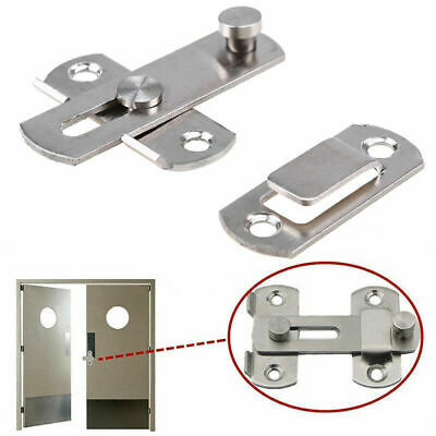 US Stainless Steel Door Padlock Slide Lock Bolt Latch Mortise Home Safety Guard
