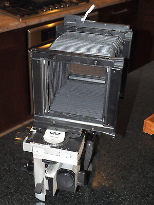 Sinar P 4x5 view camera with metering back in excellent condition. Large format