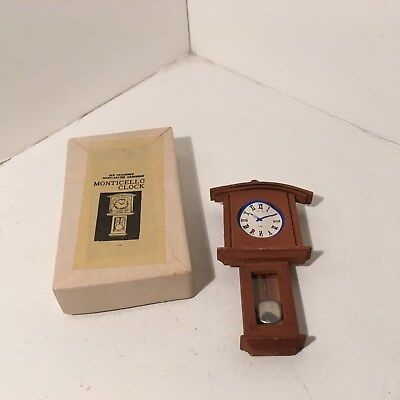 Dollhouse Miniatures Vintage Wood Hanging Monticello Clock NIB #7