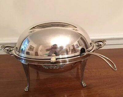 Sterling Silver Plated Soup Tureen with ladle (Walker & Hall Sheffield)