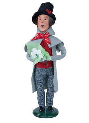 Byers' Choice Carolers Man With White Roses 2133B New 2018