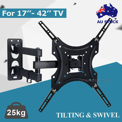 Tilt Slim TV Wall Bracket Mount Plasma LED LCD Flat 32 37 40 42 46 48 50 55 Inch