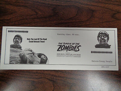 The Plague Of The Zombies Vintage Movie Ad Andre Morell Diane Clare John Carson