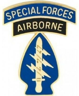 """United States ARMY Special Forces Airborne LAPEL HAT TIE pin 1 1/8"""" brand new"""