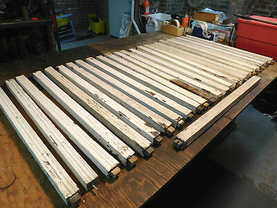 Lot-Of-25-Vintage-Architectural-Salvage-Wood-Spindles-Balusters-Porch-Railings