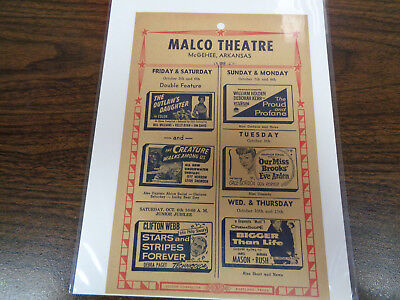 Malco Theatre Vintage Movie Ad Mcghee Arkansas The Outlaw's Daughter