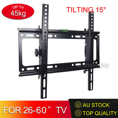 TV Bracket Wall Mount Slimline Tilting LCD LED 32 40 42 43 47 48 49 55 60 Inch