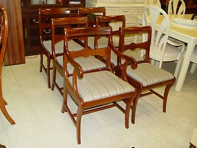 1 Arm Chair & 5 Side Mahogany Chairs