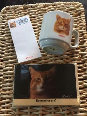 Vintage lot- 9 Lives Morris the Cat Mug, Notepad and Note Cards Greeting Cards