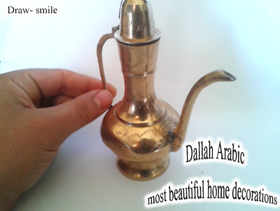DALLAH Coffee Arabic copper SMALL Manual inscription ISLAMIC ARABIC Decoration